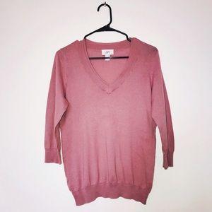 Ann Taylor Loft Double V-Neck sweater